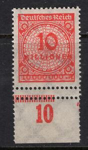 DR Minr. 318 A UR mit Doppelzähnung - postfrisch - (GM770)