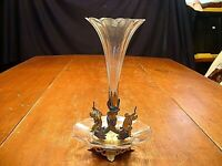 RARE Miniature Cut Glass & Gilded Putti Figures Epergne