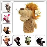 Animales vida silvestre guante de mano marionetas de peluche suave juguSC