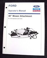 "NEW HOLLAND 12 hp HYDROSTATIC TRACTOR 38"" MOWER DECK OPERATORS & PARTS MANUAL"
