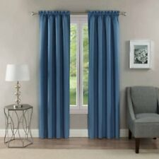 "Lot of 2 Eclipse Samara Blackout Thermal Curtain Panels 42"" x 95"" Silver Blue"