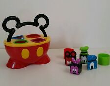 Mickey Mouse Clubhouse Pants Shape Sorter Preschool  Toy Minnie Goofy Square