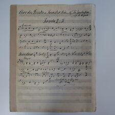Mozart Sarastro Arie trompeta parte, Antiguo Manuscrito De Música Regalo De Música c.1901