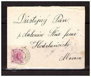A1057) AUSTRIA 1902 Cover Stramberk Morava