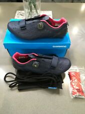 Shimano RP9 SH-RP901 Carbon Cycling Shoes - Size 42 WIDE Fit, Navy, New No Tags