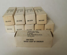 Lot of 10 RCA  Jan 6CB6 Tubes All Identical NOS