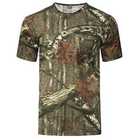 Men's Short Sleeve Forest Camo Print T- Shirt Camouflage Forest  Army Top S-5XL