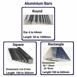 Aluminium Bar Solid Lathe Turning Machining High Grade Square Round Block Small