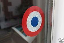 2 Cocardes 10 cm France Electrostatique  pour vitre ou pare-brise pas de colle