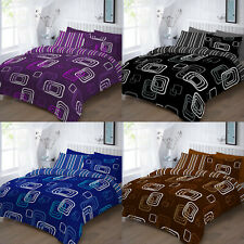 Printed Duvet Quilt Cover Polycotton Printed Bedding Set All Sizes BLAKE
