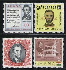 GHANA 1965 MNH SC.208/211 Abraham Lincoln