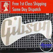 "Gibson Guitar Logo 6 x 3.5"" Decal Vinyl Sticker Guitar Case Window *13 Colours*"