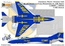 Blue Angels F-4J Phantom II Insignia Paint Mask Set 1/48 by DN Models