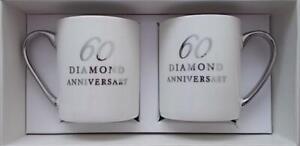 Amore **60TH DIAMOND WEDDING ANNIVERSARY MUG SET** WG12260