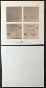 CANADA - 1999 # 1812 MILLENNIUM ISSUE 'DOVES' - SILVER HOLOGRAM - PANE OF 4 MNH
