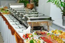 Buffet Chafing Dishes 8 Pack Full Size Catering 8 Qt Chafer Pan Food Warmer Dish