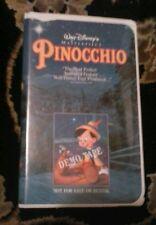 Disney Black Diamond Classics Edition VHS Pinocchio Demo Tape --  VERY RARE