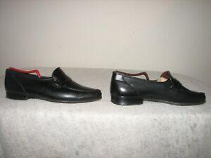 Allen Edmonds Bergamo Men Black  Leather Penny Loafer Shoes 8.5 D