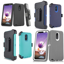 LG Stylo 4/Stylo 5 Plus Rugged Armor Case + Belt Clip Fits Otterbox Defender