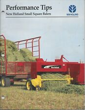 New Holland Small Square Baler Performance Tips (dsplay 34)