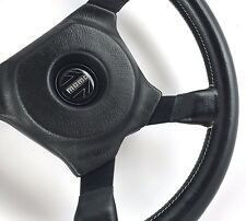 Momo Ghibli 350mm leather car steering wheel. Genuine Classic, 1981 ***SUPERB***