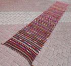 """Carpet Runner Hallway Rug Wool Corridor Long Stairs Kilim Runner Rug 35""""x205,1"""""""