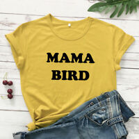 Mama Bird T-shirt Cute Mothers Day Gift Tshirt For New Mom Women Graphic Tee Top