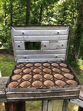 Vintage Metal Two Dozen Egg Crate Carton