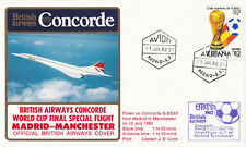 (28784) Spain Cover Concorde World Cup Final Flight Madrid Manchester 1982