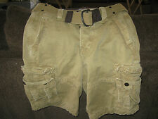 Abercrombie & Fitch Button Fly Shorts Mens 28 Waist- Cargo- Belt- New With Tags
