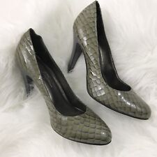 Jessica Simpson Size 7 High Heels Croc Patent Leather Slip On Classic Pumps