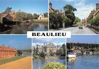 Hampshire Multi View Postcard, BEAULIEU AW2
