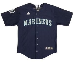 Adidas SEATTLE MARINERS Baseball JERSEY Boys Youth Medium (10-12)