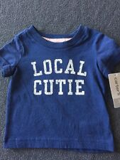 NWT Carter's Baby Local Cutie Short Sleeve Cotton Top Shirt Size 3 Months