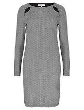 New M&S Ltd Edition Grey & Black Cotton Rich Coulmn Dress Sz UK 6