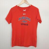 UA Under Armour Womens T Shirt Loose Heat Gear Auburn Tennis Orange Size L