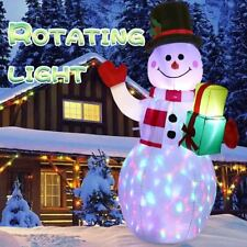 Christmas Xmas 5FT Inflatable LED Light Up Snowman Santa Decoration For Outdoor