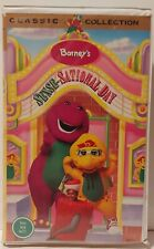 Barney Barney's Sense Sational Day vhs video see hear Smell taste Touch