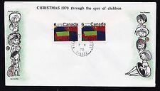 1970  No. 528p horizontal pair Winnipeg tagged unaddressed Cole cachet Christmas