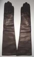 "Ladies Fownes 17"" Long 100% Silk Lined Genuine Leather Gloves,M/L,Bronze"