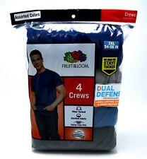 4 Blue Gray 3XL 54-56 Inch Crew Neck T-Shirts Fruit Of The Loom 3EG 137-142 CM