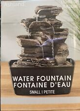 Ashland Indoor  Layered Rocks Water Fountain  Waterfall Feature LED Light.