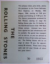 THE ROLLING STONES Concert Ticket / Billet / Tower Ballroom NEW BRIGHTON 1964