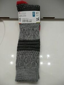 NWT Smartwool Size Small 4-6.5 Merino Wool Blend Popcorn Cable Knee High Socks