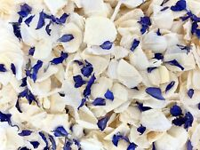 Biodegradable Delphinium WEDDING CONFETTI Dried IVORY FLUTTER FALL Real Petals