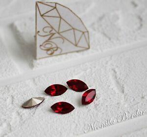 4228 Siam 10 mm Swarovski Navette Xilion Fancy Stone