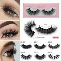 Soft Design 3D 100% Real Mink False Eyelashes Cross Messy Eye Lashes