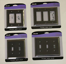 Switch Plate Outlet Wall Cover Oil Rubbed Bronze Double/Triple Rocker Toggle Lot