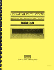 Sansui Model Eight Receiver OWNER'S MANUAL and SERVICE MANUAL