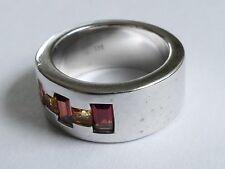Granat  Ring Silber 925 rhodiniert Vintage 90er silver ring